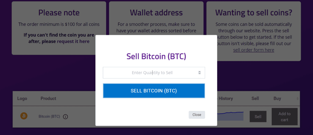 How to sell BTC in NZ with BitPrime