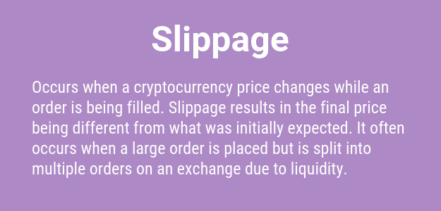 Cryptocurrency Slippage