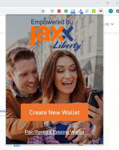 Jaxx Liberty Wallet Chrome Extension