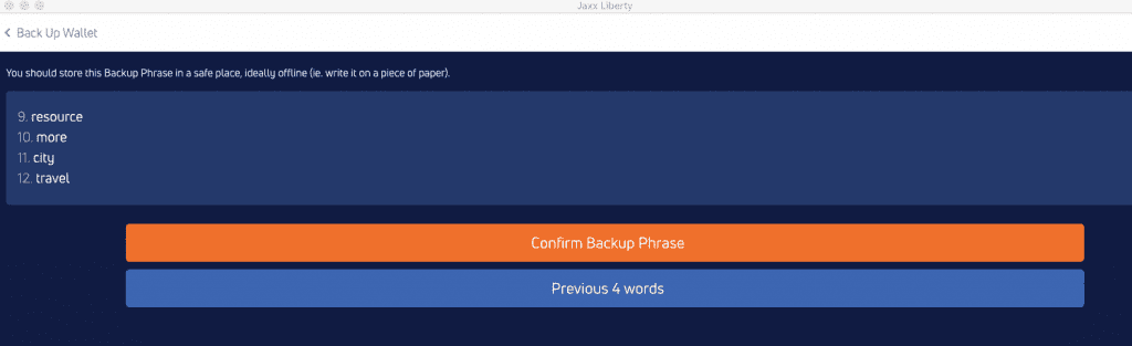 setup Jaxx Liberty desktop wallet
