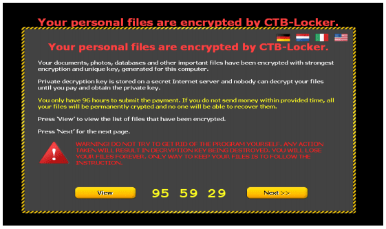 Example of a ransomware scam