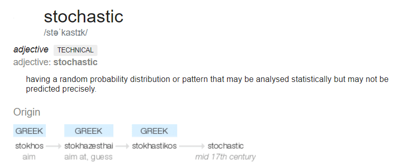 Stochastic Definition