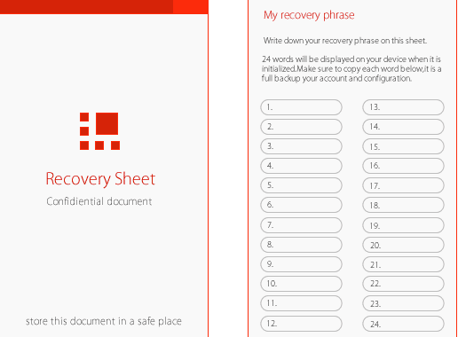 Ledger Recovery Sheet