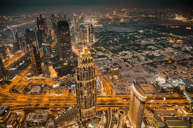 Dubai at night smart cities