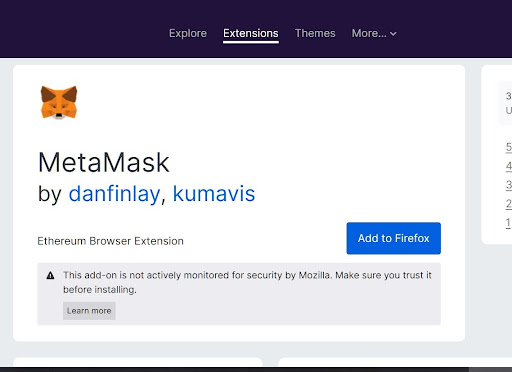 install metamask extension instructions